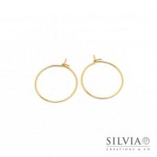 Orecchini a cerchio in acciaio color oro da 20 mm x 2pz