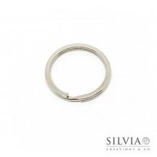 Anello portachiavi rodio di ferro da 30 mm