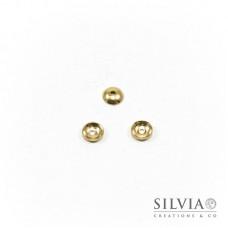 Coppetta liscia oro in ottone da 6 mm x 20pz