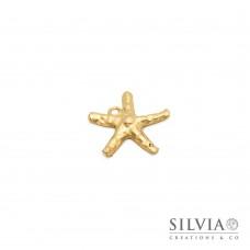 Charm link a forma di stella marina oro opaco 25x25 mm