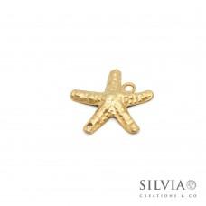 Charm link a forma di stella marina oro opaco 30x30 mm