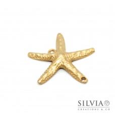 Charm link a forma di stella marina oro opaco 52x50 mm