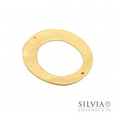 Link connettore a forma di ovale oro opaco 50x45 mm
