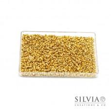 Schiaccini oro in ottone 2x1,2 mm x 100pz