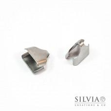 Terminale a stringere in acciaio da 11x11 mm x 2pz