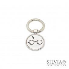 Portachiavi Harry Potter occhiali e cicatrice da 25 mm