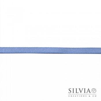 Nastro doppio raso azzurro carta da zucchero 6 mm x 100 m