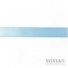 Nastro doppio raso azzurro chiaro 15 mm x 1m