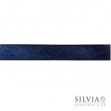 Nastro doppio raso blu scuro 15 mm x 1m