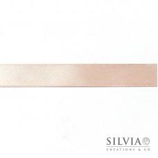 Nastro doppio raso cipria 15 mm x 50 m