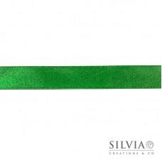 Nastro doppio raso verde smeraldo 15 mm x 1m
