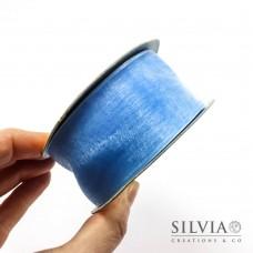 Nastro organza azzurro 38 mm x 1m