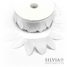 Nastro portaconfetti margherita bianco 100x6 cm