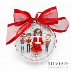 Palla di Natale con un personaggio personalizzato