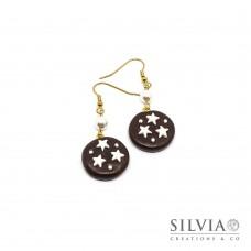 Orecchini pendenti con biscotto pan di stelle