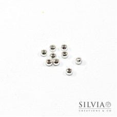 Perla argento in ferro da 5 mm x 100pz