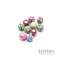 Perle multicolor in pasta polimerica da 10 mm x10 pz