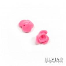 Perla rosa in acrilico a forma di rosa da 14 mm x 10pz