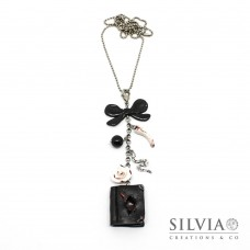 Collana lunga Harry Potter con diario di Tom Riddle e charms