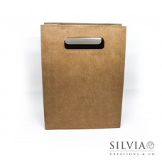 Shopper con foro avana in cartoncino da 190x90x250mm