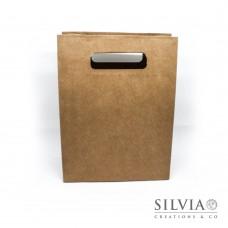 Shopper con foro avana in cartoncino da 190x90x250mm