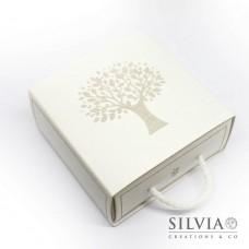 Scatolina a forma di cassetto con albero della vita 90x90x40mm