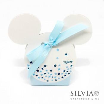 Scatolina Mickey mouse con stelle per bomboniere