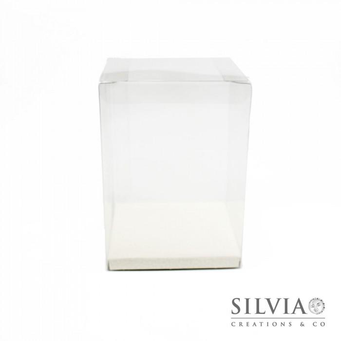 Scatola Automatica In Pvc Trasparente Fondo Bianco