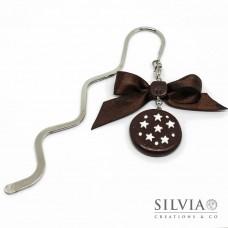 Segnalibro bacchetta rodio con biscotto pan di stelle