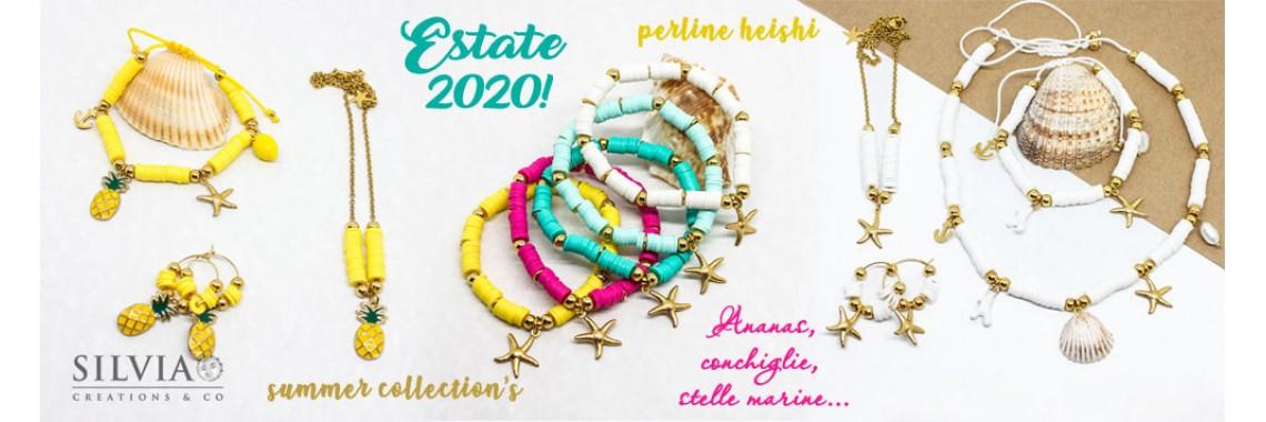 Bijoux estate perline heishi