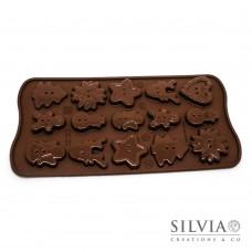 Stampo Silikomart Bottoni di Natale - Choco Xmas Buttons