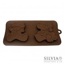 Stampo orsetto di Natale grande in silicone