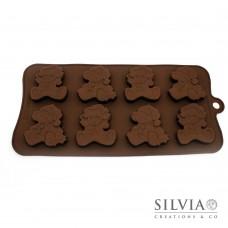 Stampo orsetto di Natale piccolo in silicone