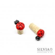 Tappo in sughero con coccinella rossa