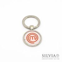 Portachiavi logo Masterchef con sfondo bianco da 25 mm
